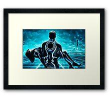 Tron Legacy multi monitor - Artwork Framed Print