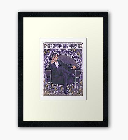 Sherlock Art Nouveau Framed Print