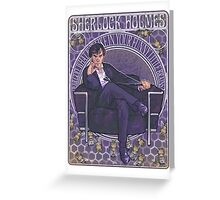 Sherlock Art Nouveau Greeting Card