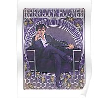 Sherlock Art Nouveau Poster