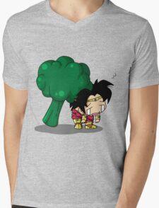 Brolly Broccoli Mens V-Neck T-Shirt