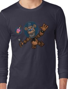 Freddy Fazbear in Space! - FNAF Pixel art Long Sleeve T-Shirt