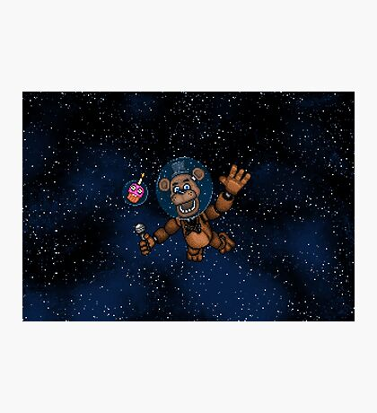 Freddy Fazbear in Space! - FNAF Pixel art Photographic Print