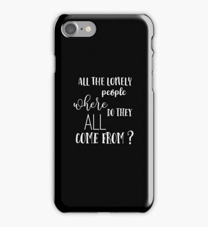 Eleanor Rigby - The Beatles - Vintage Typography Lyrics iPhone Case/Skin