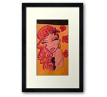 """""""Sexy Senorita"""" Framed Print"""
