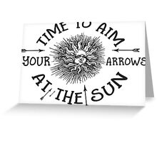 The Doors lyrics - take it As It Comes - Arrows Sun Vintage Design Greeting Card