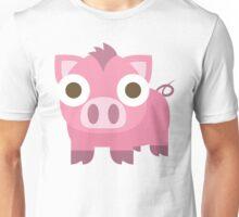 Pig Emoji Shocked and Surprised Look Unisex T-Shirt