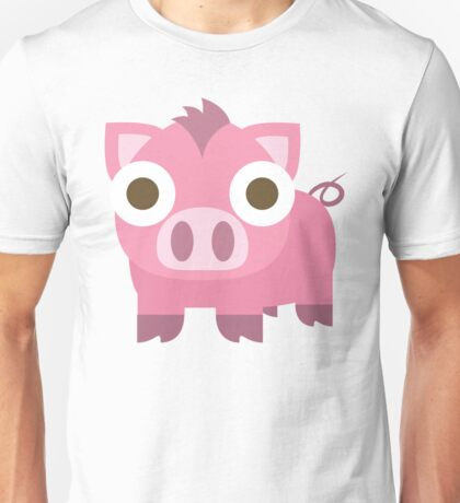 Pig Emoji Shocked and Surprised Look Unisex T-Shirt