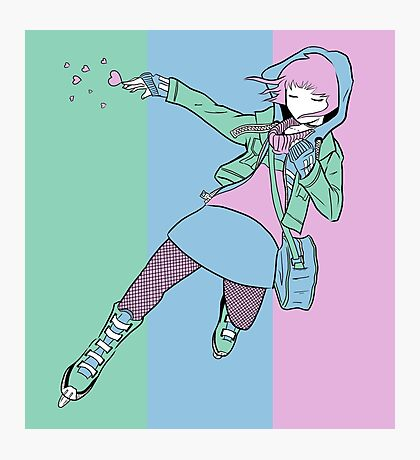 Pastel Ramona Flowers Photographic Print