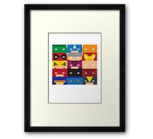 SuperBlocks - Marvel Framed Print