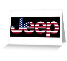 Jeep - USA flag Greeting Card