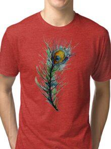 peacock rainbow. Tri-blend T-Shirt