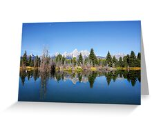 Schwabacher's Landing on the Snake River in the Grand Tetons National Park Greeting Card