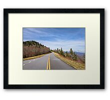 Scenic road view on Blue Ridge Parkway Framed Print