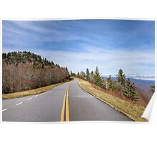 Scenic road view on Blue Ridge Parkway Poster
