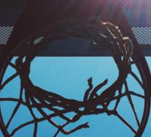 Shining hoops star Sticker