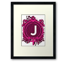 FOR HER - J Framed Print