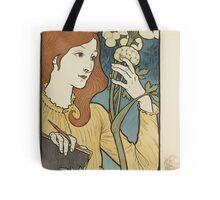 Eugene Samuel Grasset  - Salon Des Cent 1894. Eugene Samuel Grasset  - woman portrait. Tote Bag