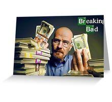 Breaking Bad - Heisenberg money Greeting Card