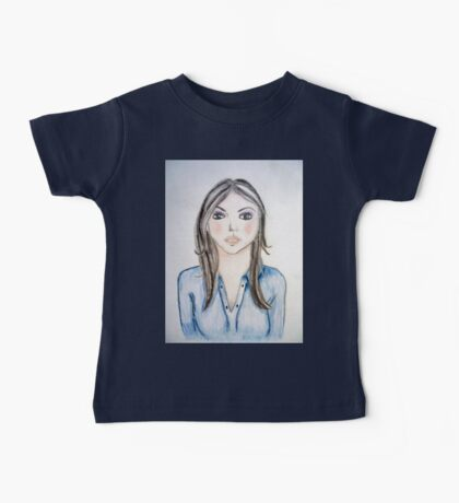 Blue blouse girl Baby Tee