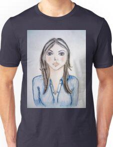 Blue blouse girl Unisex T-Shirt