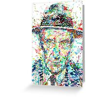 WILLIAM BURROUGHS watercolor portrait Greeting Card