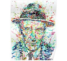 WILLIAM BURROUGHS watercolor portrait Poster