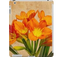 Orange Clivia Lily Blossoms - Textured  iPad Case/Skin