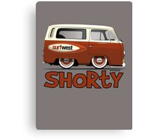 VW Camper Van Shorty Canvas Print