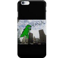 Rawr! Dinosaur T Rex attacking Chicago iPhone Case/Skin