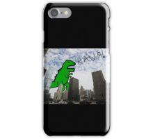 Rawr! Dinosaur T Rex attacking Chicago iPhone Case/Skin