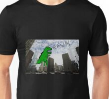 Rawr! Dinosaur T Rex attacking Chicago Unisex T-Shirt