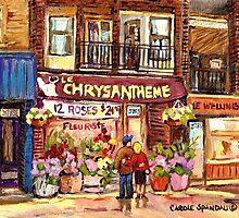 FLEURISTE CHRYSANTHEME VERDUN BOUTIQUE MONTREAL  by Carole  Spandau