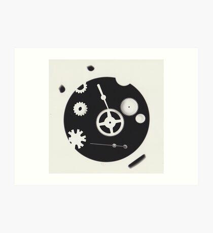 Steampunk Gear Black and White Photo Art Print