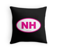 New Hampshire NH Euro Oval PINK Throw Pillow