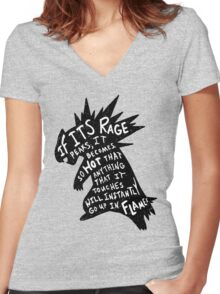The Fire Mouse Women's Fitted V-Neck T-Shirt