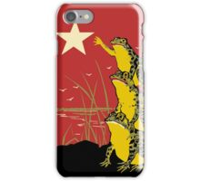 White Star Frogs iPhone Case/Skin