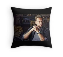 Leonardo Di Caprio Digital Portrait Throw Pillow
