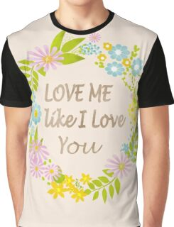 Illustration Of Love . Valentine's Day. Holiday Graphic T-Shirt