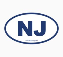 New Jersey NJ Euro Oval BLUE Kids Clothes