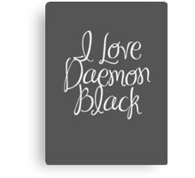 I Love Daemon Black Script Canvas Print