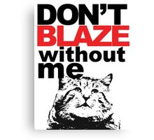 Blaze Cat Canvas Print