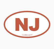 New Jersey NJ Euro Oval ORANGE Kids Clothes