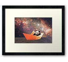 Galactic Panda Framed Print