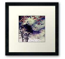 Water and Fall Framed Print
