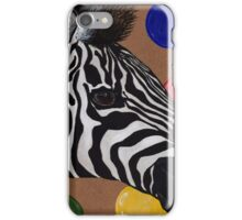 Zebra and bubbles iPhone Case/Skin
