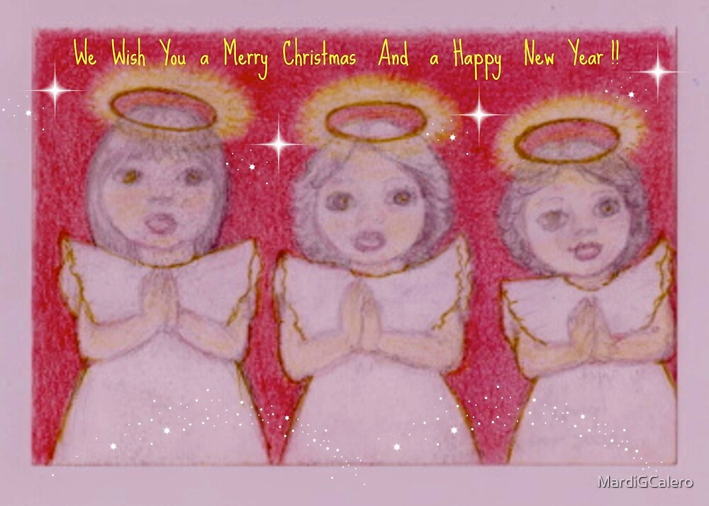 Three little Xmas Angels, Lili, Belle and Karla. by MardiGCalero