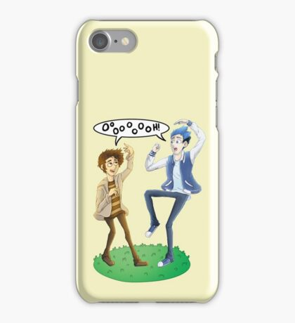 Human Mordecai and Rigby iPhone Case/Skin