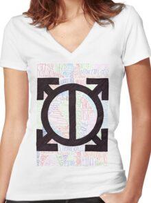 ORBIS EPSILON 30 Seconds to Mars Women's Fitted V-Neck T-Shirt