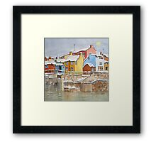 Snow on the Rooftops Framed Print